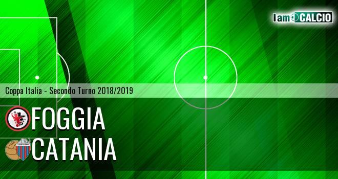 Foggia - Catania 1-3. Cronaca Diretta 05/08/2018