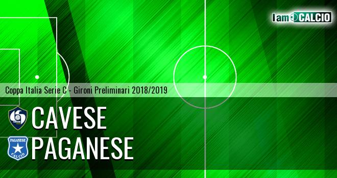 Cavese - Paganese 1-0. Cronaca Diretta 26/08/2018