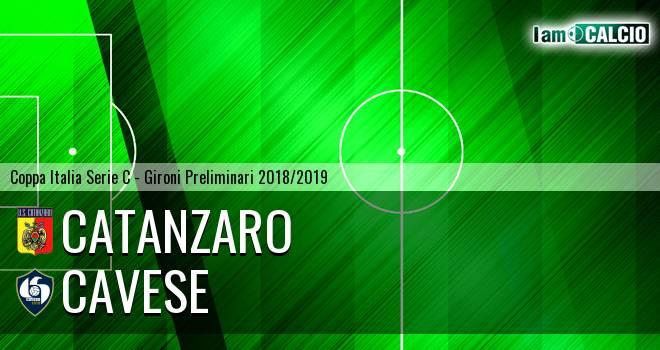 Catanzaro - Cavese 5-2. Cronaca Diretta 02/09/2018