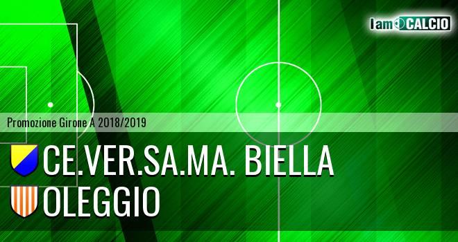 Ce.Ver.Sa.Ma. Biella - Oleggio 1-2. Cronaca Diretta 05/05/2019