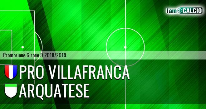 Pro Villafranca - Arquatese