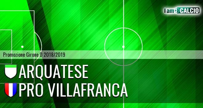 Arquatese - Pro Villafranca