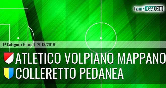 Atletico Volpiano Mappano - Colleretto Pedanea