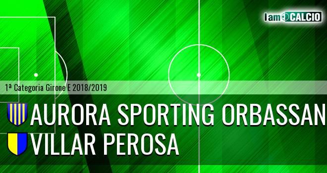Aurora Sporting Orbassano - Villar Perosa