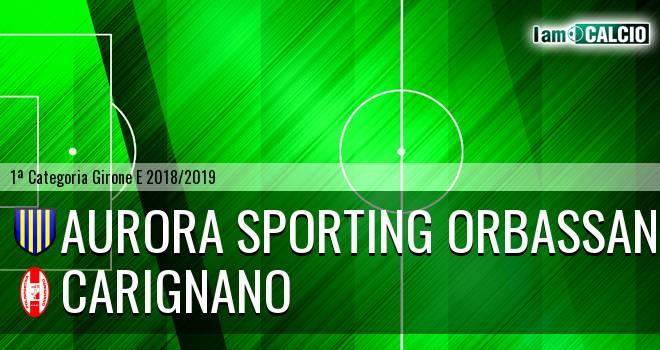 Aurora Sporting Orbassano - Carignano