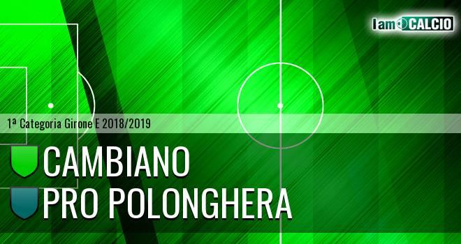 Cambiano - Pro Polonghera