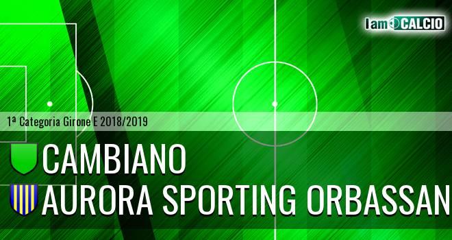 Cambiano - Aurora Sporting Orbassano
