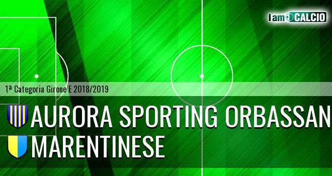 Aurora Sporting Orbassano - Marentinese