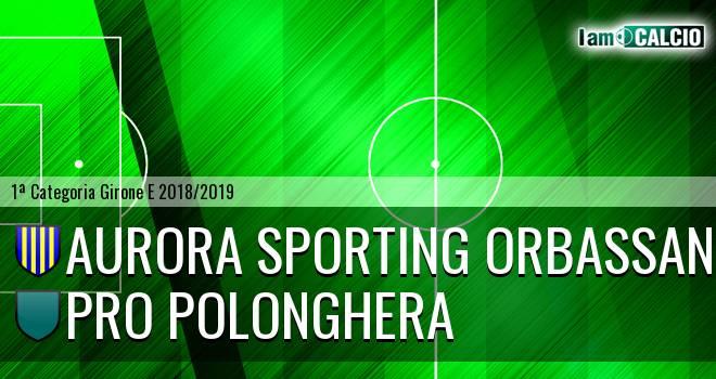 Aurora Sporting Orbassano - Pro Polonghera