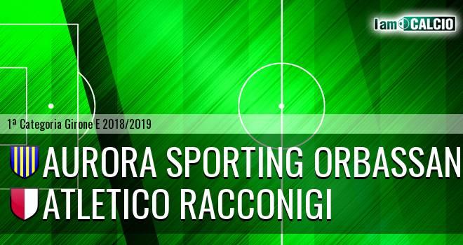 Aurora Sporting Orbassano - Atletico Racconigi