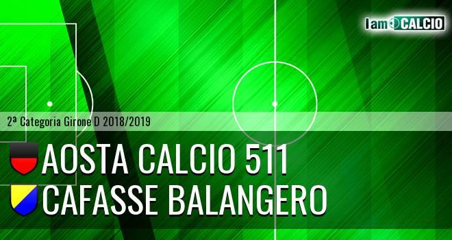 Aosta Calcio 511 - Cafasse Balangero