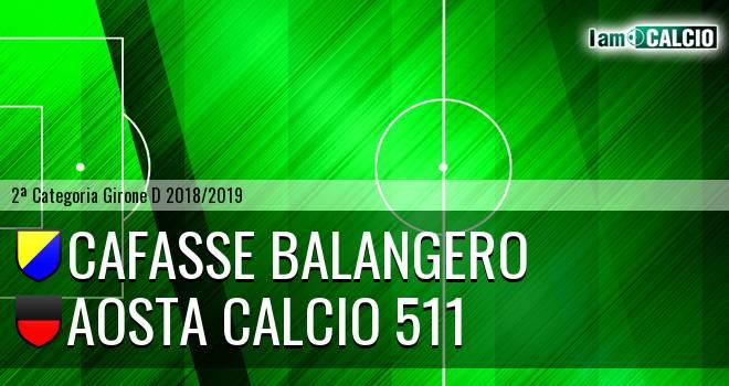 Cafasse Balangero - Aosta Calcio 511