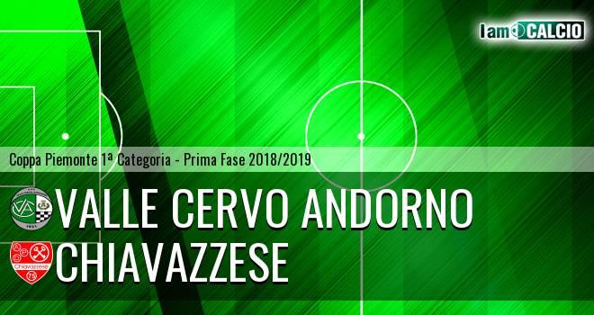 Valle Cervo Andorno - Chiavazzese 1-2. Cronaca Diretta 13/09/2018