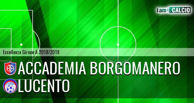 Accademia Borgomanero - Lucento 3-1. Cronaca Diretta 10/04/2019