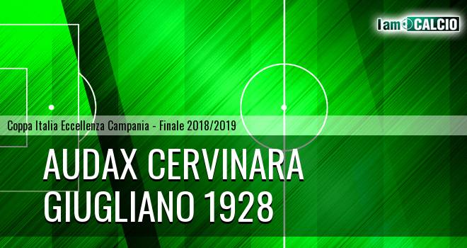 Audax Cervinara - Giugliano 1928 3-1. Cronaca Diretta 30/01/2019
