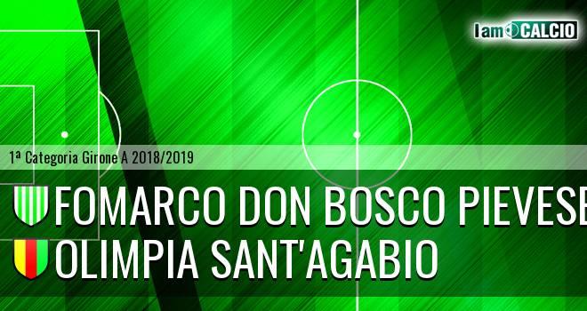 Fomarco Don Bosco Pievese - Olimpia Sant'Agabio