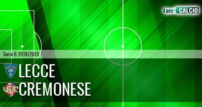Lecce - Cremonese 2-0. Cronaca Diretta 25/11/2018