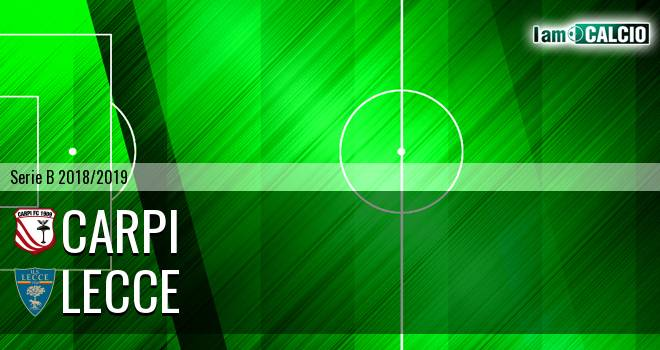 Carpi - Lecce 0-1. Cronaca Diretta 02/12/2018