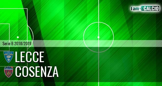 Lecce - Cosenza 3-1. Cronaca Diretta 03/04/2019