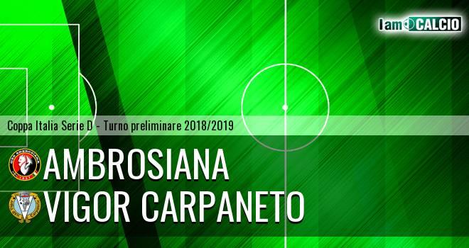 Ambrosiana - Vigor Carpaneto
