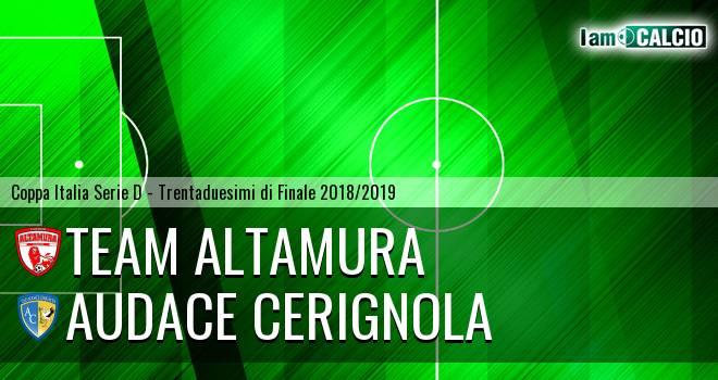 Team Altamura - Audace Cerignola 3-5. Cronaca Diretta 10/10/2018