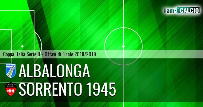 Sorrento 1945 - Albalonga 0-2. Cronaca Diretta 28/11/2018