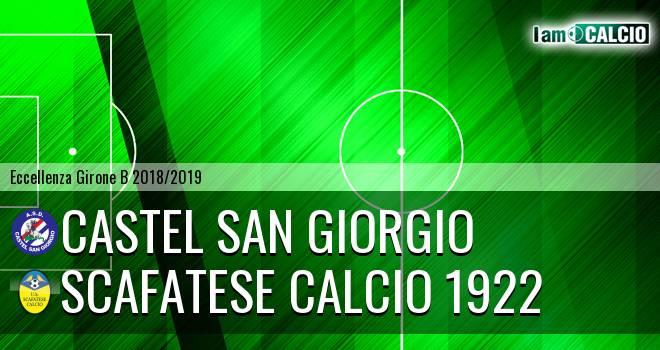 Castel San Giorgio - Scafatese Calcio 1922