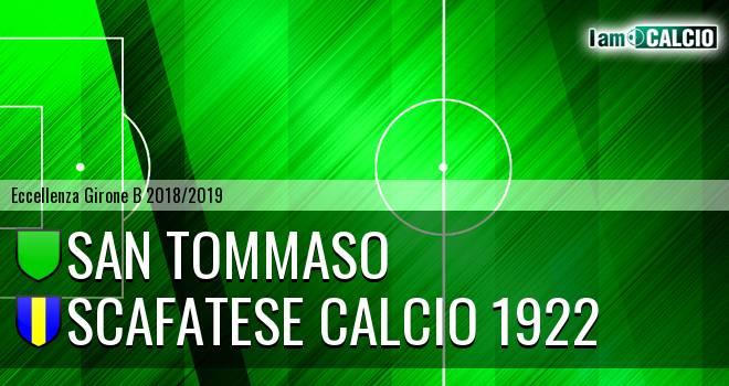 San Tommaso - Scafatese Calcio 1922
