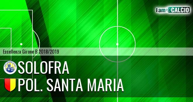 Solofra - Pol. Santa Maria 1-2. Cronaca Diretta 16/03/2019