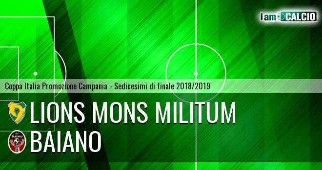 Lions Mons Militum - Baiano