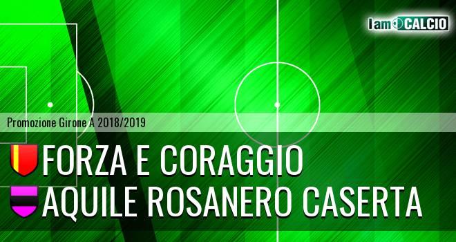 Forza e Coraggio - Aquile Rosanero Caserta 2-1. Cronaca Diretta 12/01/2019