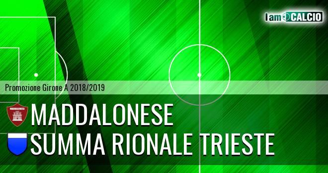 Maddalonese - Summa Rionale Trieste