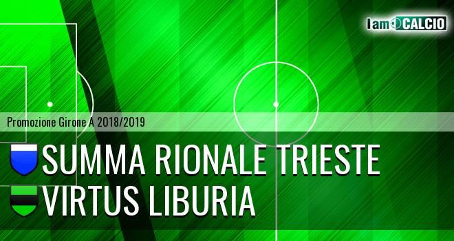 Summa Rionale Trieste - Virtus Liburia