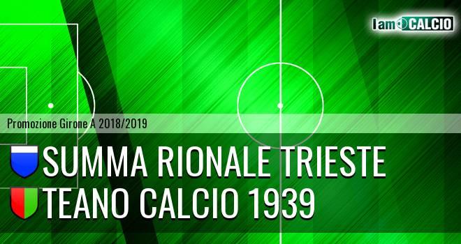 Summa Rionale Trieste - Teano Calcio 1939