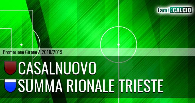 Madrigal Casalnuovo - Summa Rionale Trieste