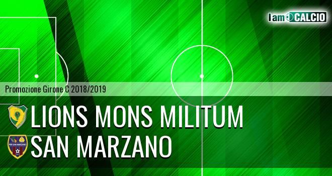 Lions Mons Militum - San Marzano
