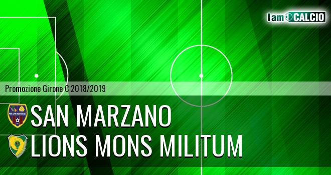 San Marzano - Lions Mons Militum