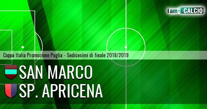 San Marco - Sporting Apricena