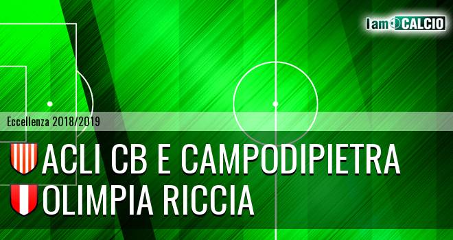 Acli Cb e Campodipietra - Olimpia Riccia