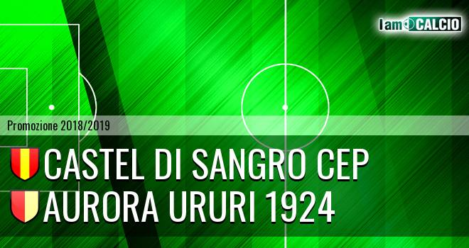 Castel di Sangro CEP - Aurora Ururi 1924