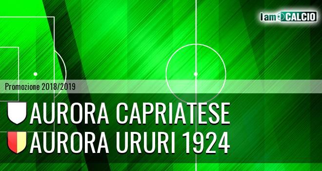 Aurora Capriatese - Aurora Ururi 1924