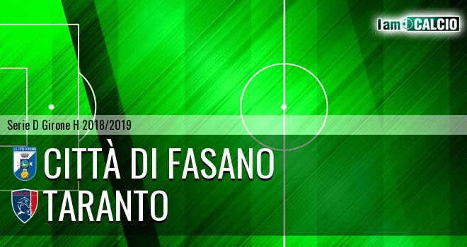 Città di Fasano - Taranto 2-2. Cronaca Diretta 28/11/2018
