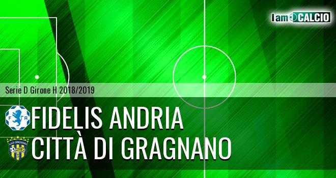 Fidelis Andria - Città di Gragnano 2-0. Cronaca Diretta 25/11/2018