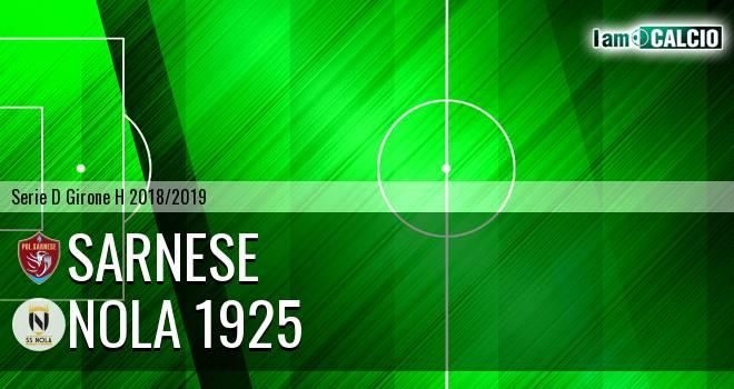 Sarnese - Nola 1925 1-1. Cronaca Diretta 25/11/2018