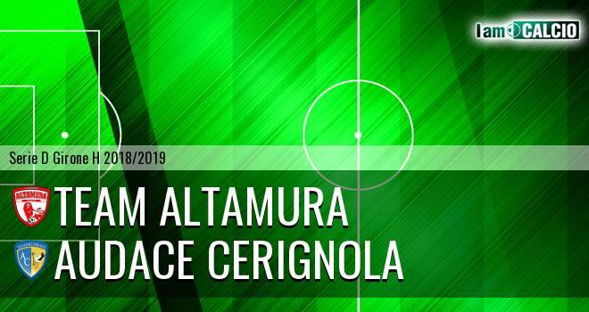 Team Altamura - Audace Cerignola 0-2. Cronaca Diretta 25/11/2018