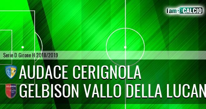 Audace Cerignola - Gelbison Vallo Della Lucania 3-0. Cronaca Diretta 02/12/2018