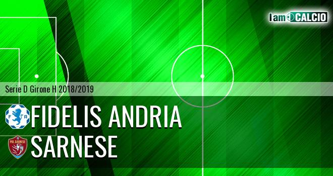 Fidelis Andria - Sarnese 3-0. Cronaca Diretta 12/12/2018