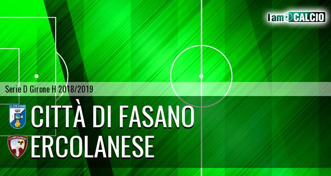 Citta' di Fasano - Sporting Ercolano