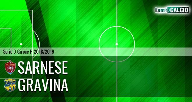 Sarnese - Gravina 1-1. Cronaca Diretta 06/01/2019