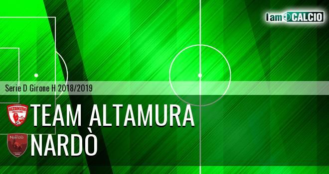 Team Altamura - Nardò 2-1. Cronaca Diretta 16/01/2019